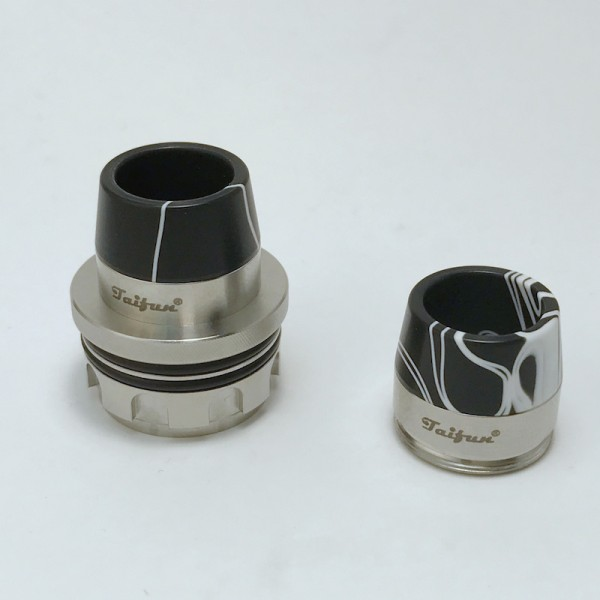 Taifun Drip Tip BT Dual schwarz/weiß